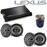 Lexus ES 300 1997-2006 Factory Speaker Replacement Kicker (2) KSC5 & DX400.4 Amp