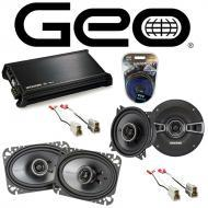 GEO Metro 1992-1994 Factory Speaker Replacement Kicker KSC4 KSC46 & DX400.4 Amp