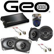 GEO Metro Convertible 1991-1994 OEM Speaker Upgrade Kicker KS Coax & DX400.4 Amp