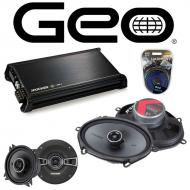 GEO Prizm 1989-1992 Factory Speaker Replacement Kicker KSC4 KSC68 & DX400.4 Amp