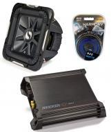 "Kicker Car Stereo 15"" Sub Package 2011 S15L7 Dual 4 Ohm Subwoofer, DX500.1 Amp & Install..."