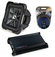 "Kicker Car Stereo 12"" Sub Package 2011 S12L7 Dual 2 Ohm Subwoofer, DX300.2 Amp & Install..."