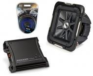 "Kicker Car Audio 15"" Sub Package 2011 S15L7 Dual 4 Ohm Subwoofer, ZX400.1 Amp & Install ..."