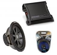 "Kicker Car Stereo 10"" Sub Package CVR10 Dual 4 Ohm Subwoofer, ZX400.1 Amp & Install Wire..."