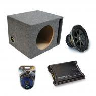 "Kicker Car Audio Loaded Single 10"" Ported CVX10 Comp VX Subwoofer Enclosure Sub box with ZX3..."