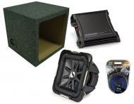 """Kicker Car Stereo 10"""" Loaded S10L7 Dual 4 Ohm Sealed Subwoofer Box, ZX400.1 Amp & Amplif..."""