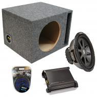 """Kicker Car Stereo Loaded Single 15"""" Ported CVR15 Comp VR Subwoofer Enclosure Sub box with DX..."""