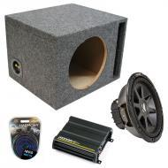 """Kicker Car Stereo Loaded Single 15"""" Ported CVR15 Comp VR Subwoofer Enclosure Sub box with CX..."""
