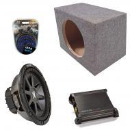 "Kicker Car Audio Loaded Single 10"" Sealed CVR10 Comp VR Subwoofer Enclosure Sub box with DX5..."