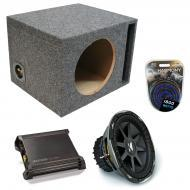 "Kicker Car Stereo Loaded Single 10"" Ported CVX10 Comp VX Subwoofer Enclosure Sub box with DX..."
