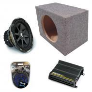 "Kicker Car Audio Loaded Single 10"" Sealed CVX10 Comp VX Subwoofer Enclosure Sub box with CX6..."