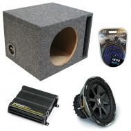 "Kicker Car Stereo Loaded Single 10"" Ported CVX10 Comp VX Subwoofer Enclosure Sub box with CX..."