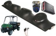 "Bush Hog Trail Hunter Rockford R152 & PBR300X4 Amp Quad (4) 5 1/4"" Speakers UTV Pod System"