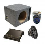 "Kicker Car Stereo Loaded Single 10"" Ported CVR10 Comp VR Subwoofer Enclosure Sub box with DX..."