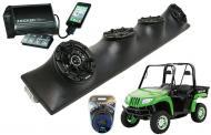 """Artic Cat Prowler Powered Kicker DSC5 & PXI50.2 iPhone Controlled Amp Quad (4) 5 1/4"""" Sp..."""