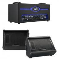 "Peavey Pro VB-3 300W All Tube Bass Amplifier Head w/ 10"" Loaded Speaker Monitor"