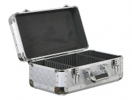 Odyssey Cases KCD200-DIA Silver Diamond KROM DJ Case Holds 200 View Pack / 65 Jewel Case CDs
