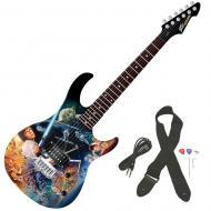 Peavey Star Wars Classic Collage Rockmaster Full Size Maple Neck 21 Fret Electric Guitar