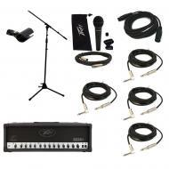 Peavey 6534 + Plus Electric Guitar Amplifier Tube 120W Amp Head Mic Stand Cables