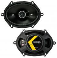 "Kicker 43DSC6804 6""x8"" DS Series 35W RMS 4 Ohm Coaxial Car Audio Speakers DSC68"