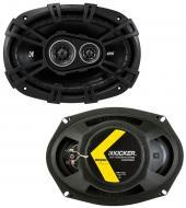 "Kicker 43DSC69304 6""x9"" DS Series 70W RMS 3 Way 4-Ohm Coaxial Car Audio Speakers DSC693"
