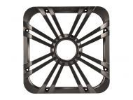 "Kicker 11L712GLC 12"" Square Charcoal Grille for Solo-Baric L7 Subwoofers w/ Accent LEDs"