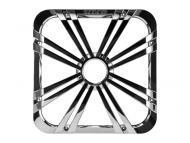 "Kicker 11L712GLCR 12"" Square Chrome Grille for Solo-Baric L7 Subwoofers w/ Accent LEDs"