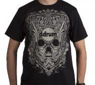 dDrum 100% Cotton Mask T-Shirt Black Color - Double Extra Large Size (DD MASK XX LRG)