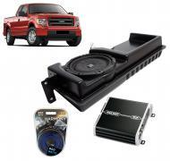 "2009-2014 Ford F-150 Super Cab Truck Kicker Loaded 10"" Sub Box Enclosure & Kicker 41DXA2..."