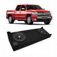 "2007-2013 Chevy Silverado Crew Cab Truck Kicker Comp C10 Dual 10"" Sub Box Enclosure - Final ..."
