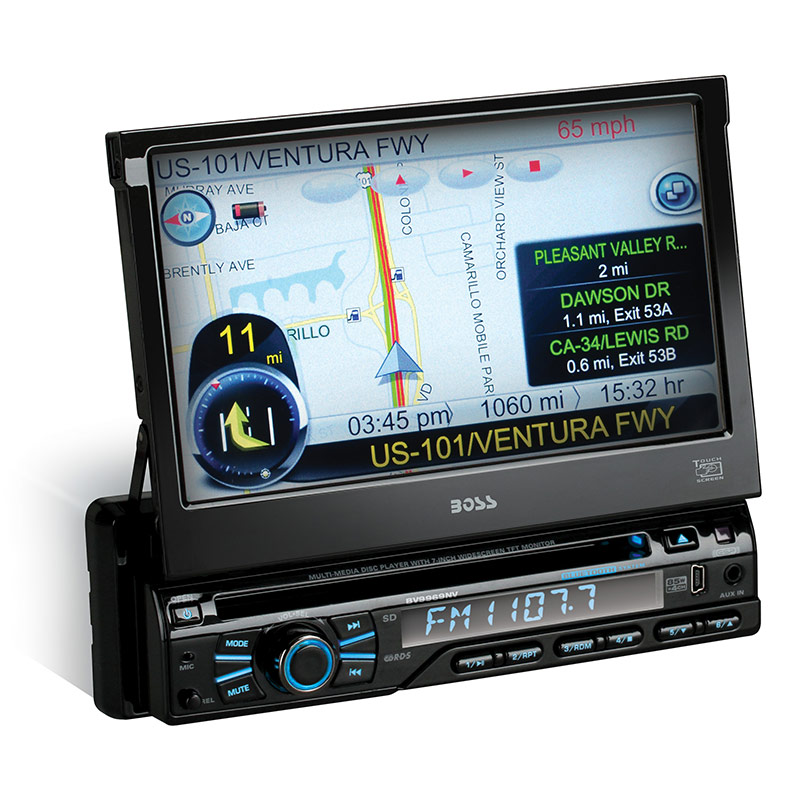 Boss Audio BV9969NV 7-Inch Touchscreen Bluetooth In-Dash Navigation with USB Port