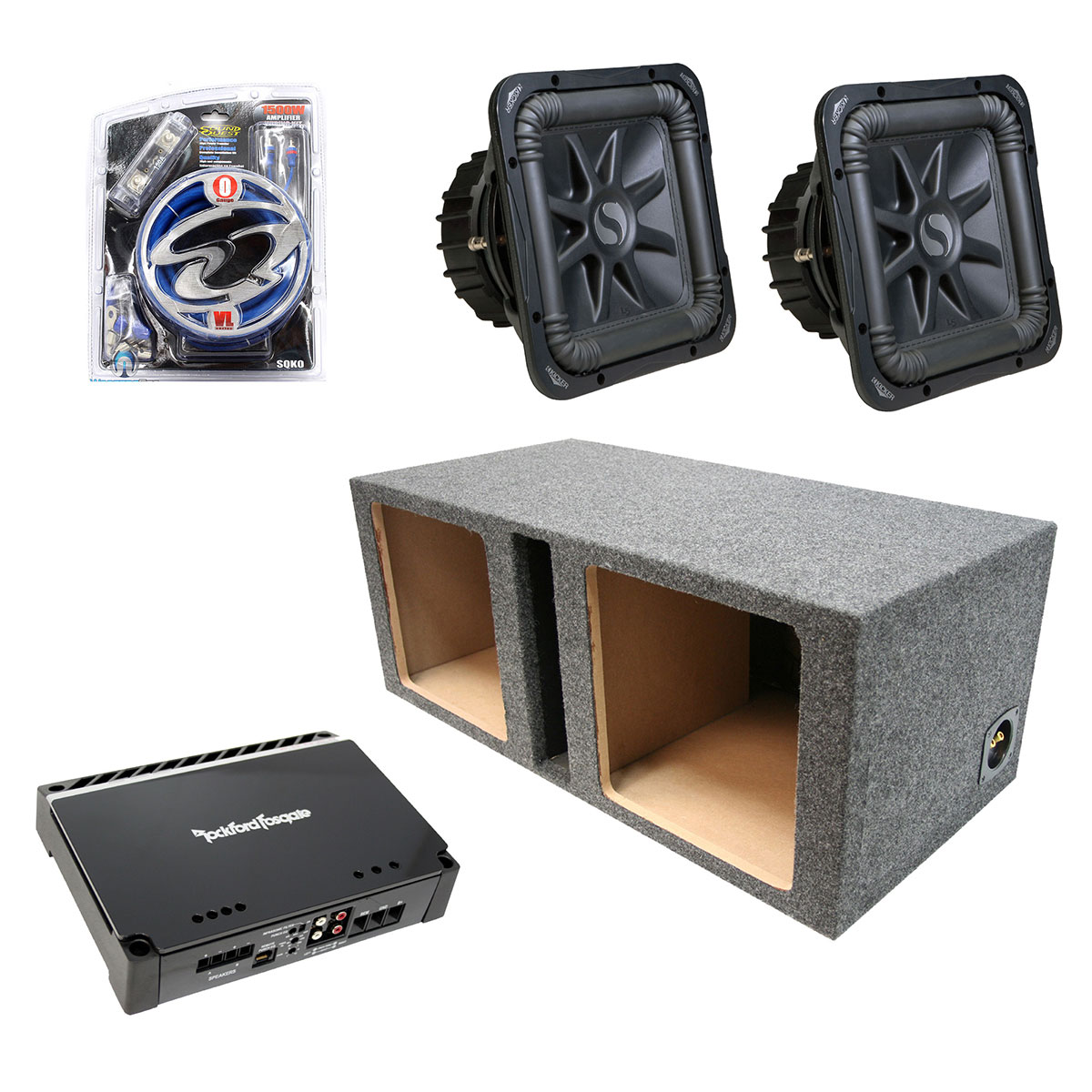 Kicker car audio dual 12 s12l5 l5 ported speaker sub box for L ported speaker box