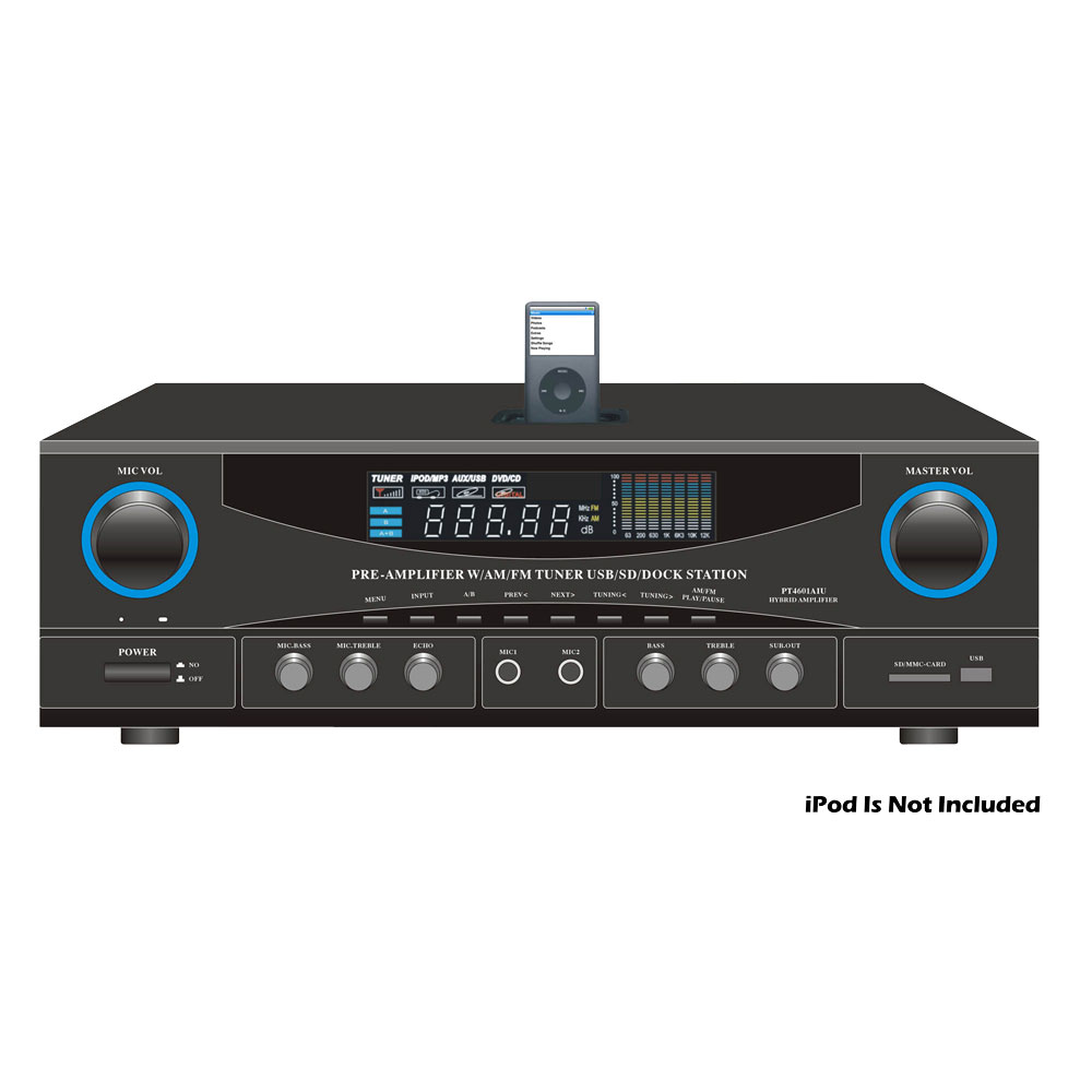Pyle Home Audio PT4601AIU 180 Watts Pre-Amplifier with AM ...