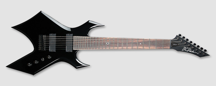 bc rich wgl8bk warlock lucky 8 string electric guitar with. Black Bedroom Furniture Sets. Home Design Ideas