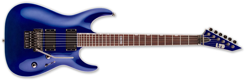 ESP LTD MH-330 FR MH-Series Electric Guitar - Electric Blue Finish Mahogany Body & ESP Tuners (LMH330FREB)