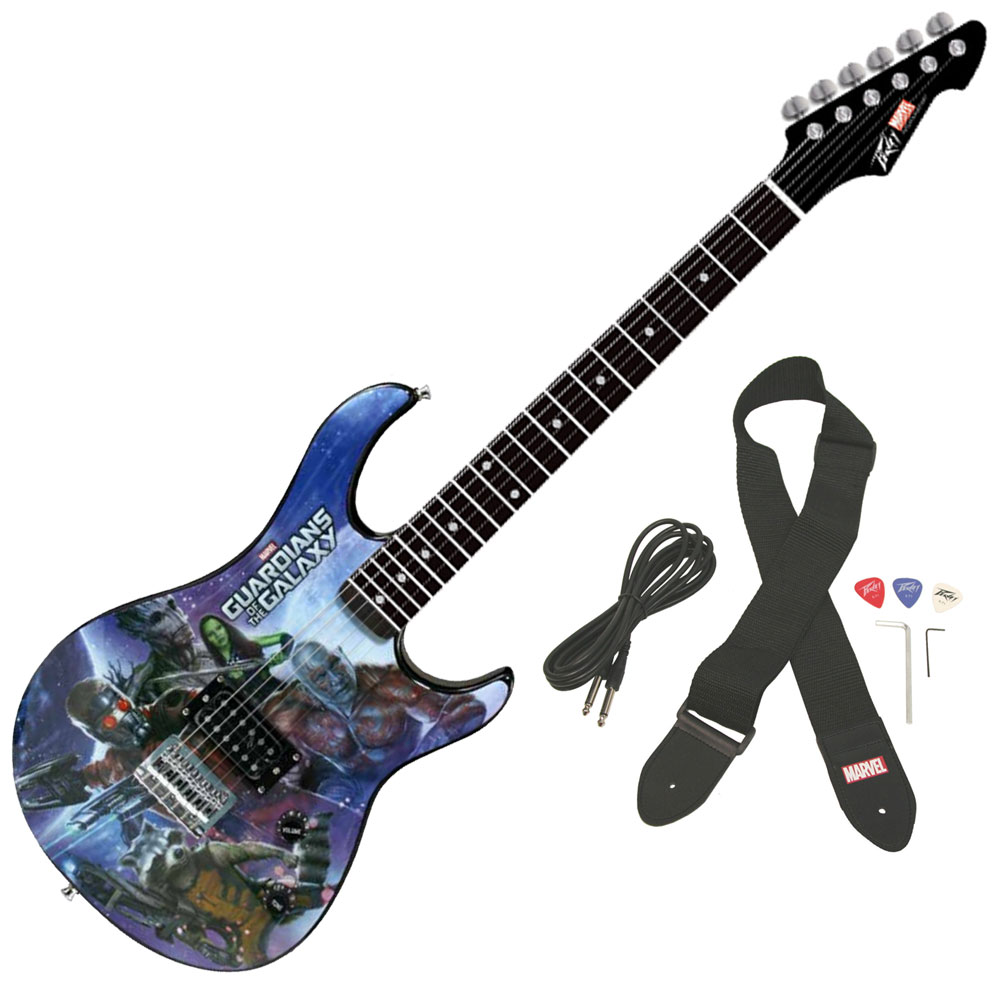 peavey rockmaster full size marvel guardians of the galaxy electric guitar new 14367607413 ebay. Black Bedroom Furniture Sets. Home Design Ideas