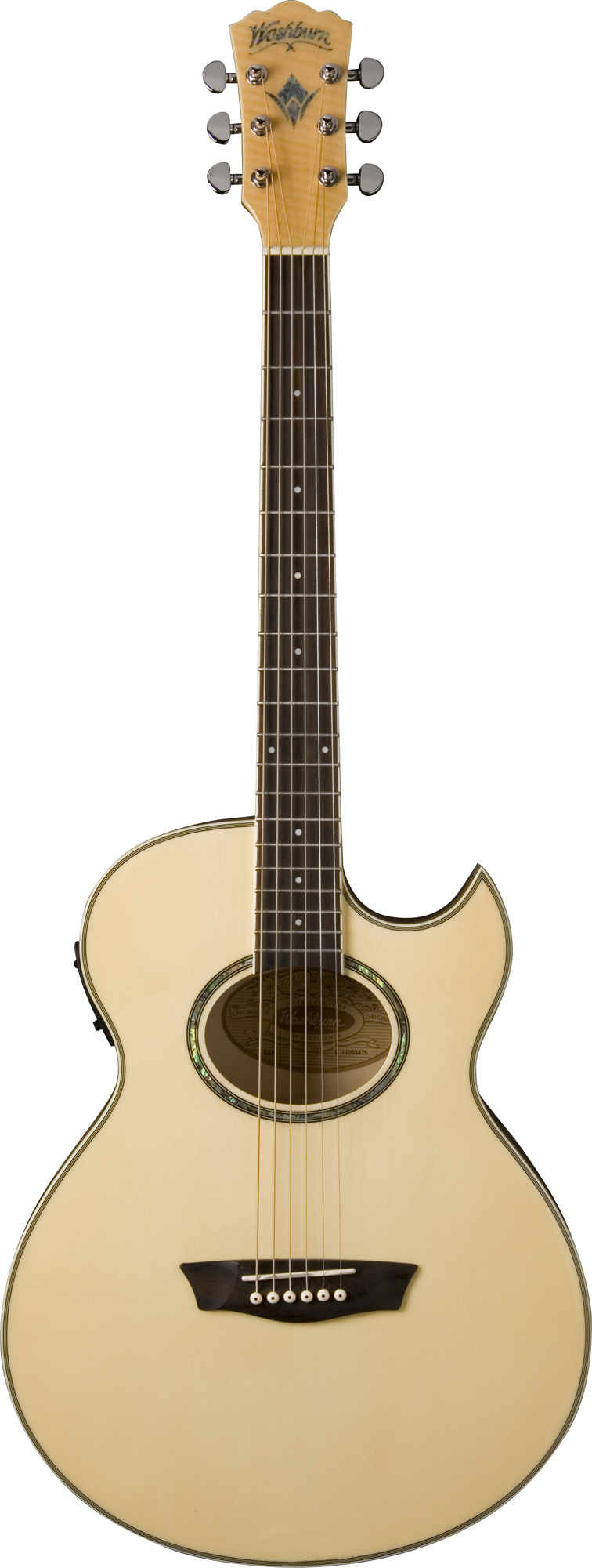 washburn ea20 electric florentine cutaway style guitar with 21 frets natural finish was12 ea20. Black Bedroom Furniture Sets. Home Design Ideas