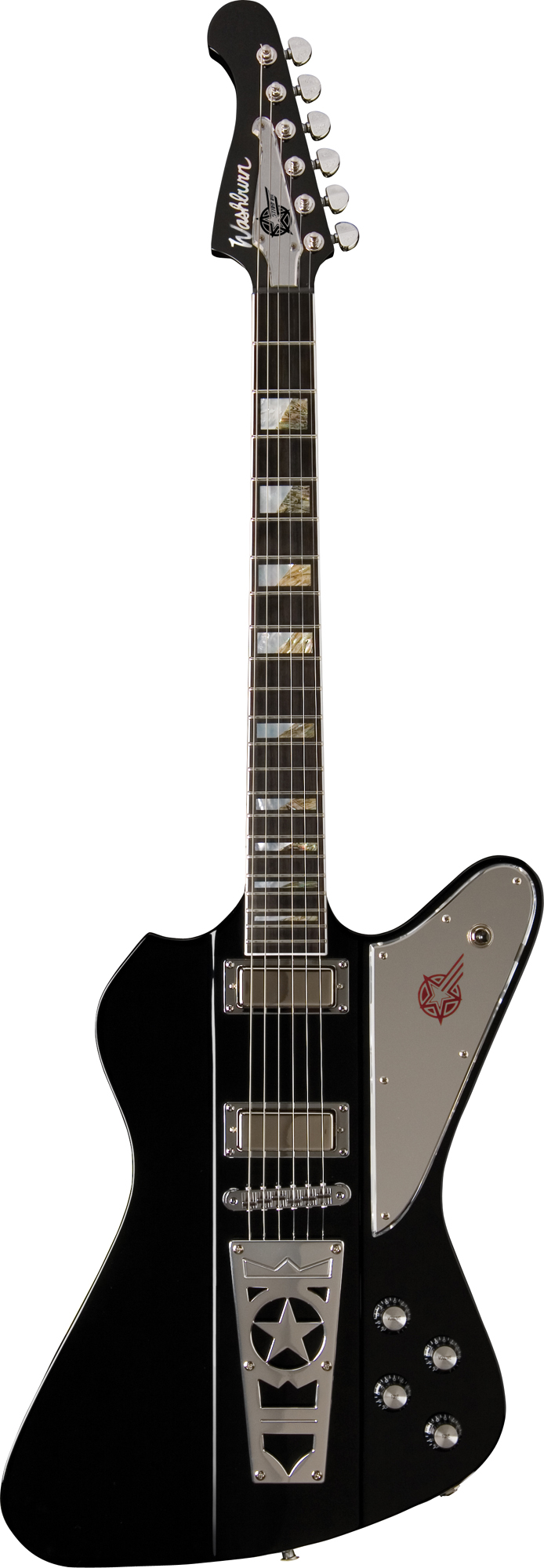 washburn ps2012b paul stanley series electric guitar with a black finish was12 ps2012b. Black Bedroom Furniture Sets. Home Design Ideas