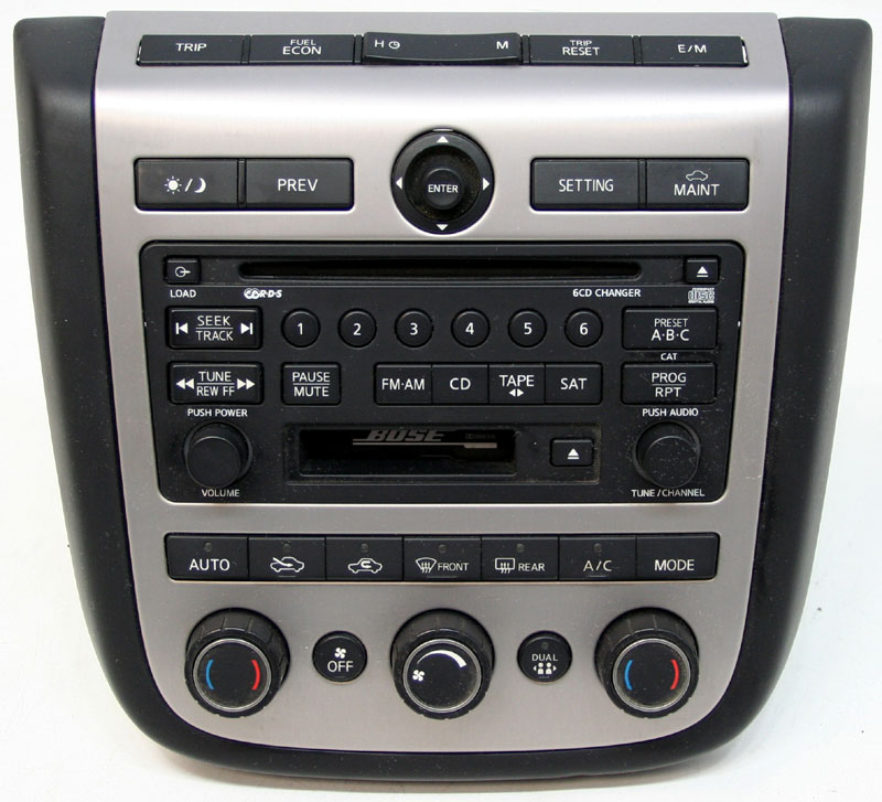 2004 2005 nissan murano factory stereo bose 6 disc changer cd player oem radio r 2702