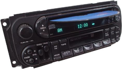 2002 chrysler voyager factory am fm radio cassette cd. Black Bedroom Furniture Sets. Home Design Ideas