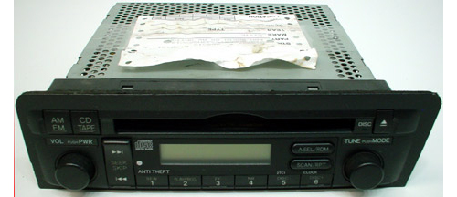 2004 2005 honda civic ex factory am fm radio cd player r. Black Bedroom Furniture Sets. Home Design Ideas