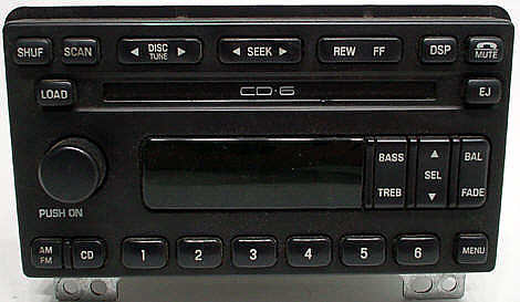 2003 2004 ford explorer factory 6 disc cd player radio r. Black Bedroom Furniture Sets. Home Design Ideas
