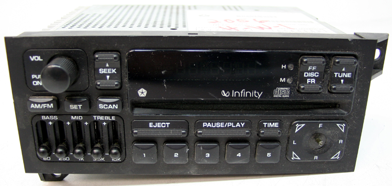 1993 1995 Jeep Grand Cherokee Factory Infinity CD Player
