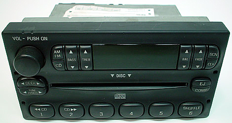 1999 2004 ford f150 factory stereo cd player w cd changer control r 2141. Black Bedroom Furniture Sets. Home Design Ideas