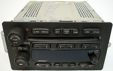 2005-2006 Chevy Trailblazer Factory 6 Disc Changer BOSE CD Radio