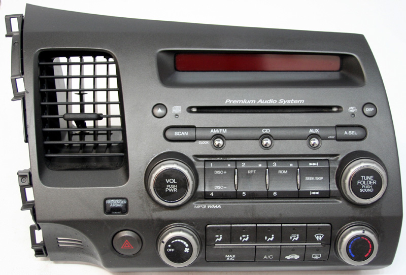 2006 2008 honda civic si factory am fm mp3 cd player radio. Black Bedroom Furniture Sets. Home Design Ideas