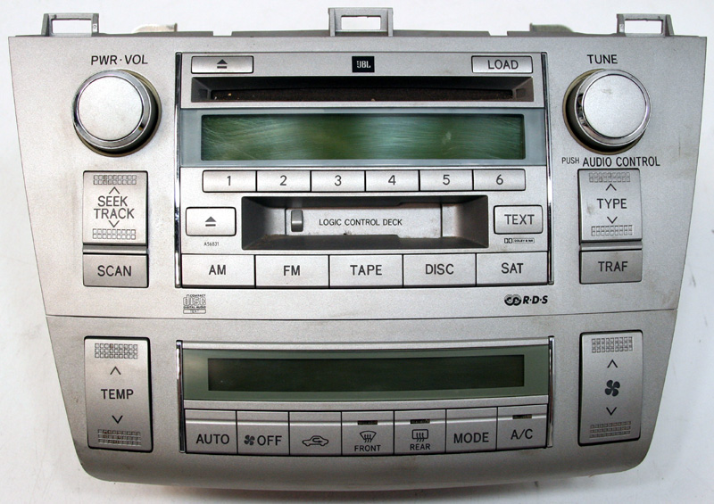 2004 2006 toyota solara factory 6 disc changer jbl cd player oem radio with climate controls r. Black Bedroom Furniture Sets. Home Design Ideas