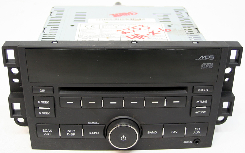 2007 2011 chevy aveo factory stereo mp3 cd player with aux. Black Bedroom Furniture Sets. Home Design Ideas