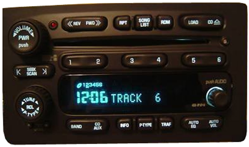 2003 2004 2005 chevy tahoe factory stereo 6 disc changer