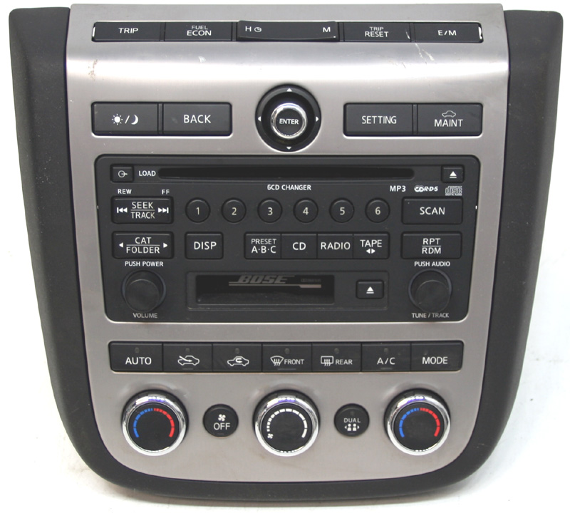 2006-2007 Nissan Murano Factory Stereo 6 Disc Changer MP3 CD Tape Player OEM BOSE Radio